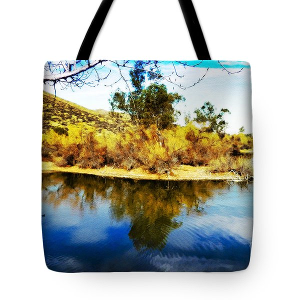 Tote Bag featuring the photograph East Bay, Canyon Lake, Ca by Rhonda Strickland