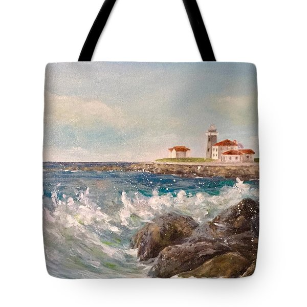 East Beach View Tote Bag