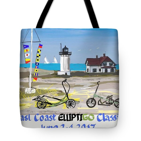 East Coast Elliptigo Classic  Opus 3 Tote Bag