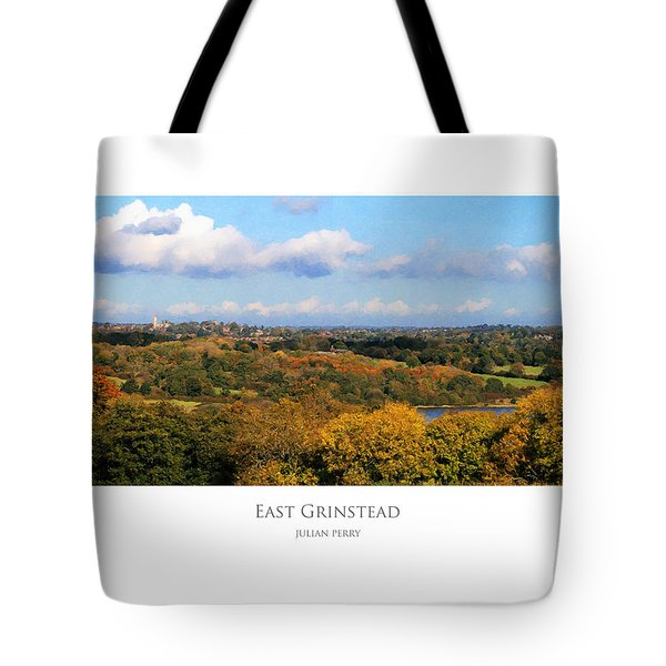 Tote Bag featuring the digital art East Grinstead by Julian Perry