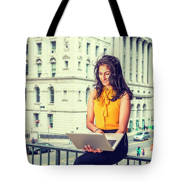 East Indian American Businesswoman In New York Tote Bag