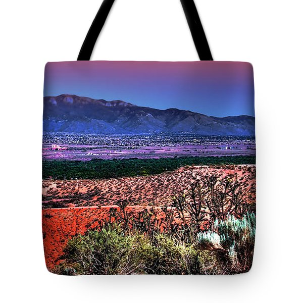 East Of Albuquerque Tote Bag by David Patterson
