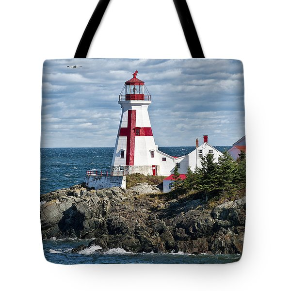 East Quoddy Lighthouse Tote Bag by John Greim