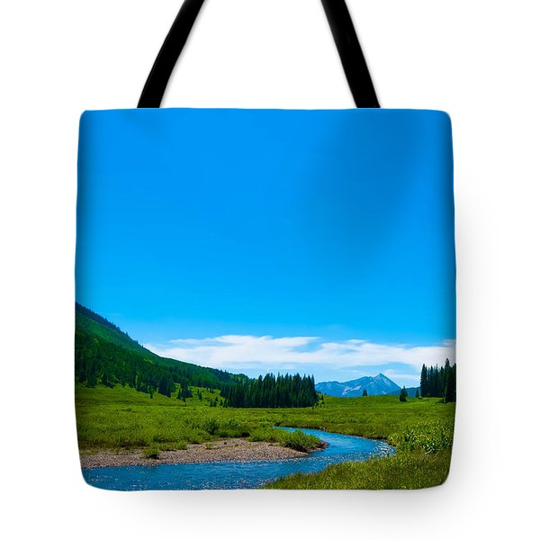 East River On Gothic Road Tote Bag