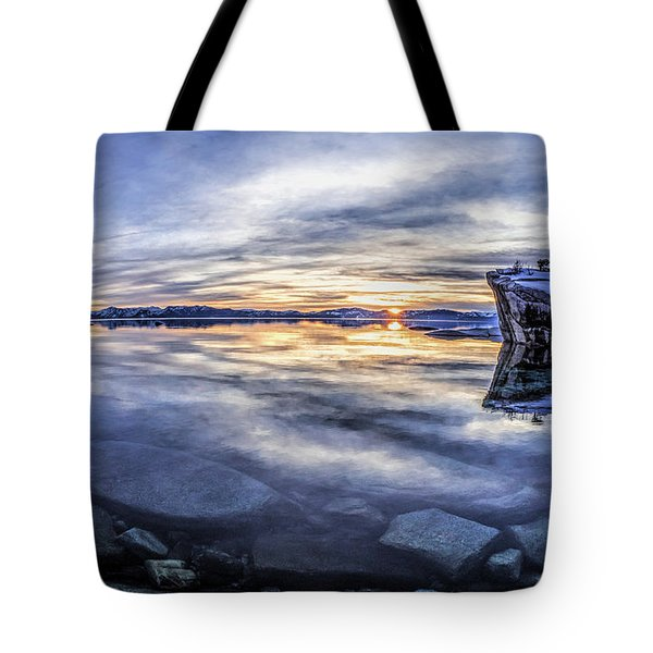 East Shore Sunset Tote Bag