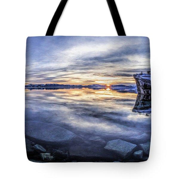 East Shore Sunset Tote Bag
