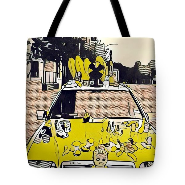 East Side Electric Tote Bag