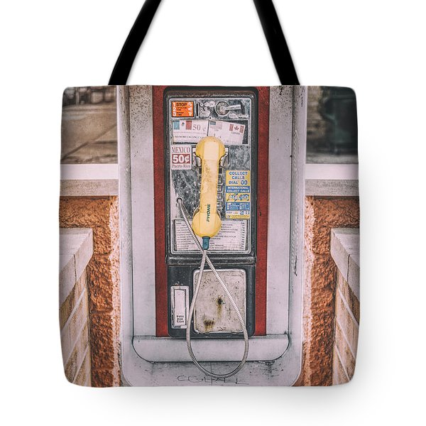 East Side Pay Phone Tote Bag