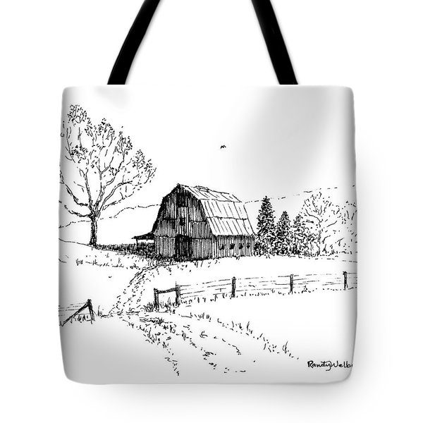 East Texas Hay Barn Tote Bag