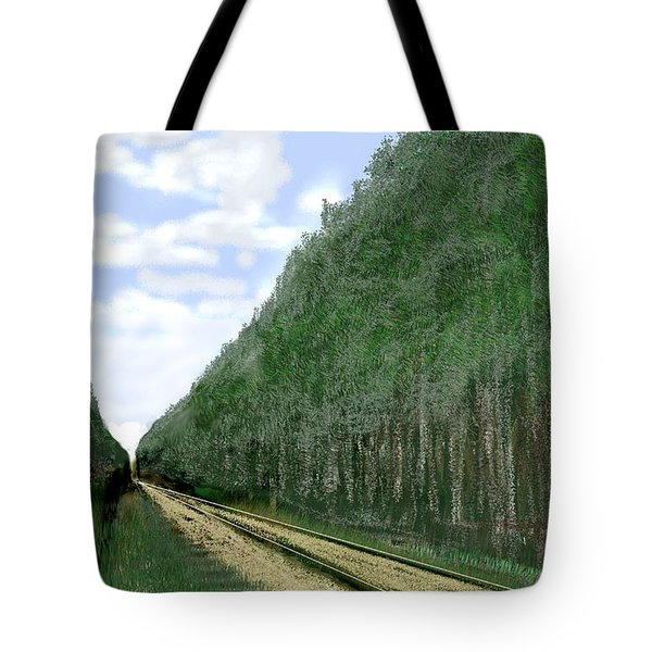 Tote Bag featuring the digital art East Texas Pine Cut by Kerry Beverly
