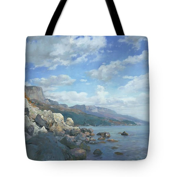 East View. A Seascape In The Vicinity Of Foros Mmxi Tote Bag