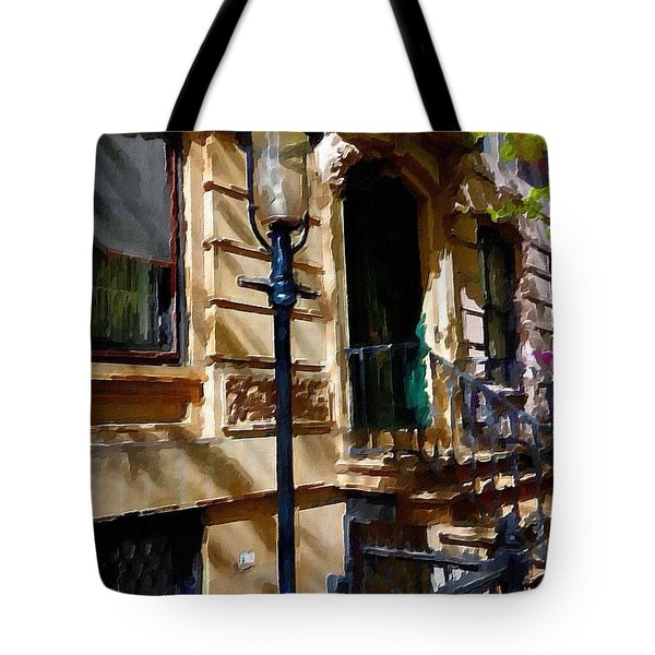 East Village New York Townhouse Tote Bag