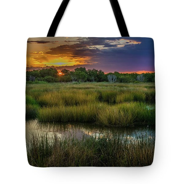 East Wetlands Sunrise Tote Bag