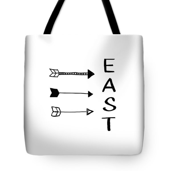 East With Arrows- Art By Linda Woods Tote Bag