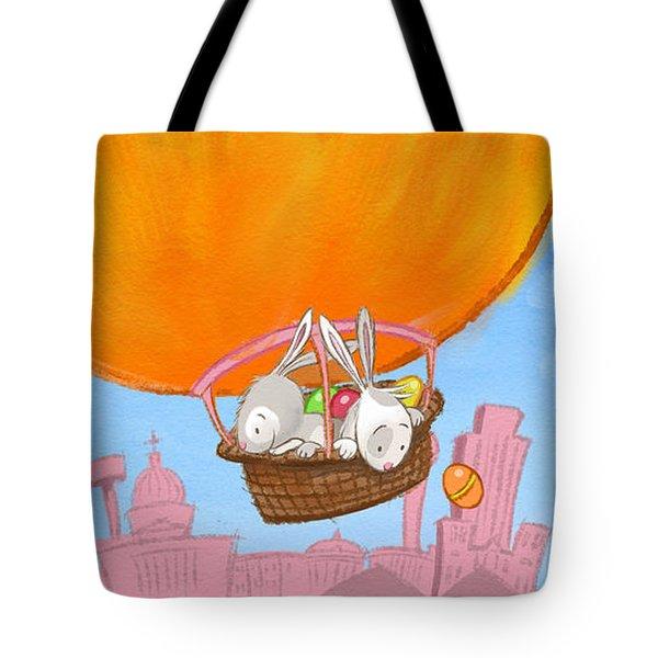 Easter Balloon Tote Bag