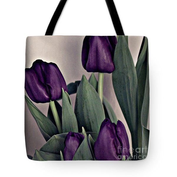 A Display Of Tulips Tote Bag by Sherry Hallemeier