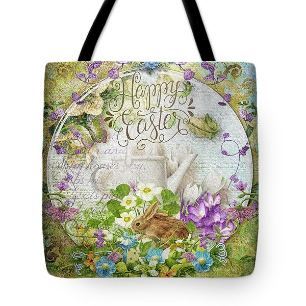 Tote Bag featuring the mixed media Easter Breakfast by Mo T