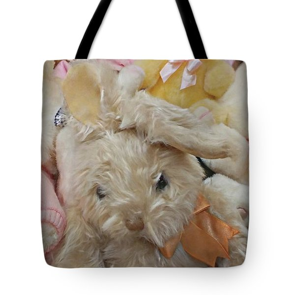 Tote Bag featuring the photograph Easter Bunnies by Benanne Stiens