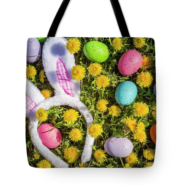Tote Bag featuring the photograph Easter Bunny Ears by Teri Virbickis