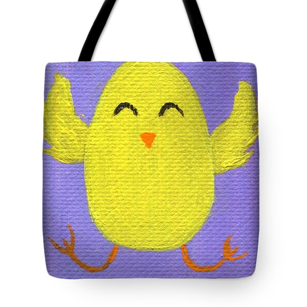 Tote Bag featuring the painting Easter Chicky by Jamie Frier