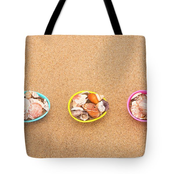 Easter Egg Baskets On Beach Tote Bag
