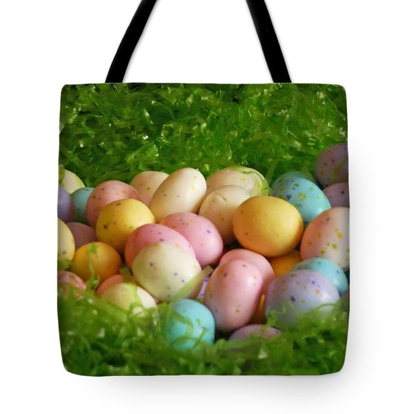 Easter Egg Nest Tote Bag by Methune Hively