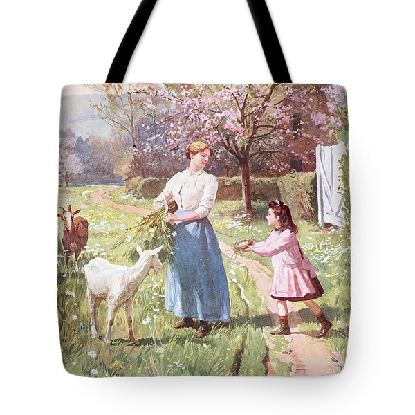 Easter Eggs In The Country Tote Bag by Victor Gabriel Gilbert