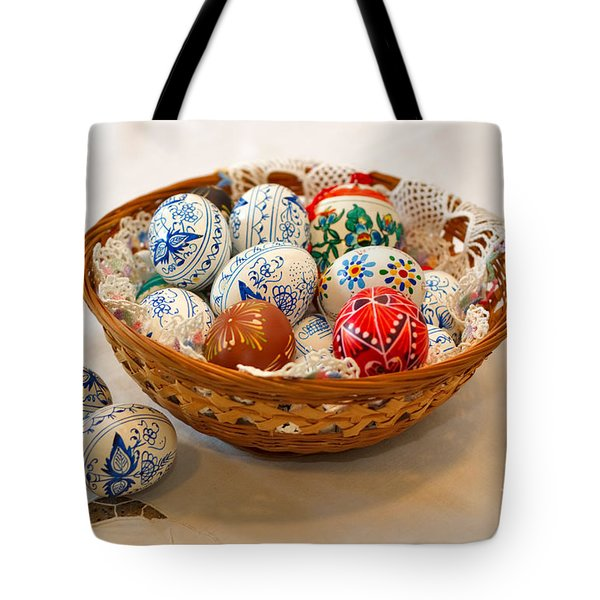 Easter Eggs Tote Bag by Louise Heusinkveld