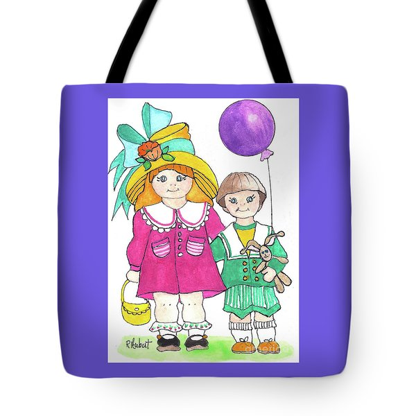 Tote Bag featuring the painting Easter Finery by Rosemary Aubut
