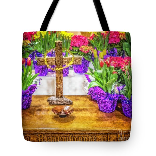 Tote Bag featuring the photograph Easter Flowers by Nick Zelinsky