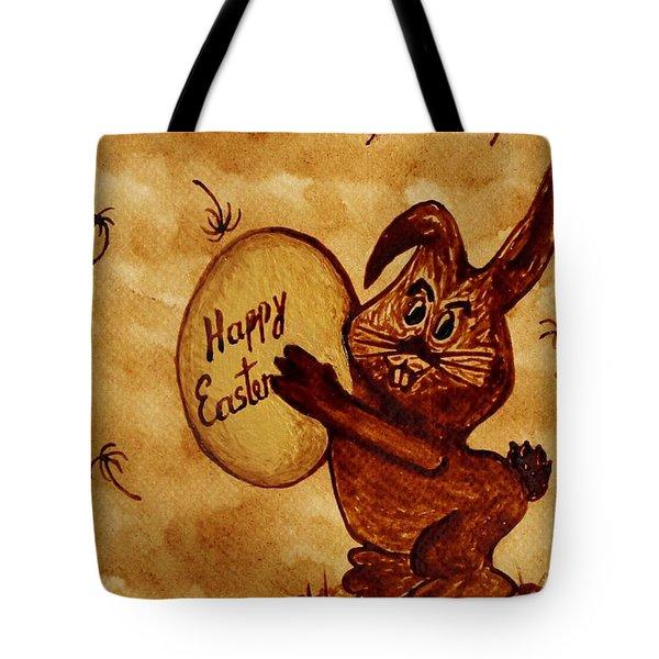 Easter Golden Egg For You Tote Bag by Georgeta  Blanaru