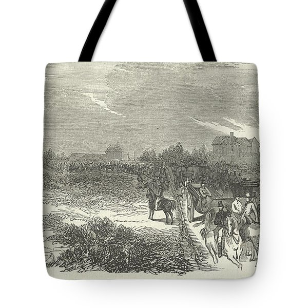 Easter Hunt With The Royal Stag Hounds  The Meet At Stoke Common Tote Bag