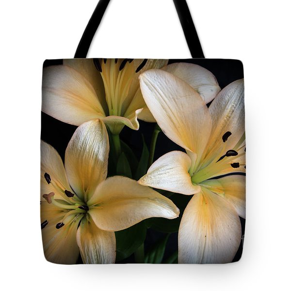 Easter Lilies  Tote Bag by Deborah Klubertanz