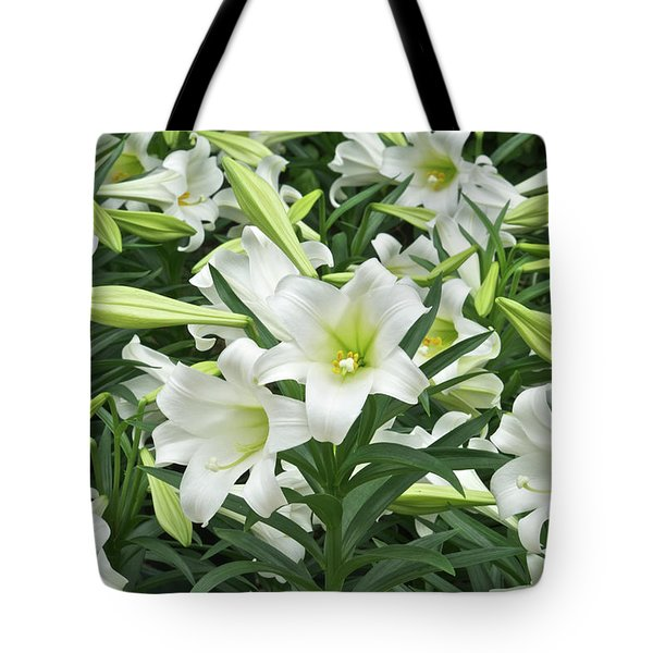 Easter Lilies Galore Tote Bag