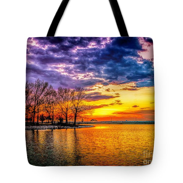 Tote Bag featuring the photograph Easter Sunset At Riverview Beach Park by Nick Zelinsky