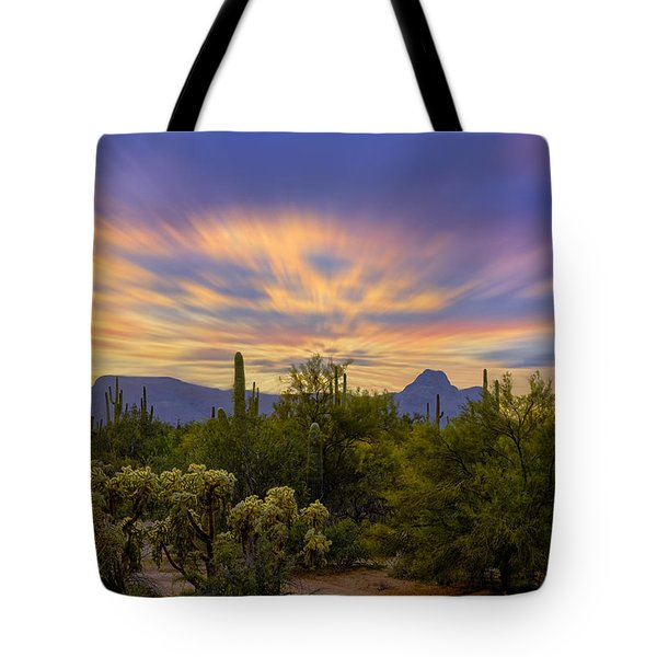 Easter Sunset H18 Tote Bag by Mark Myhaver