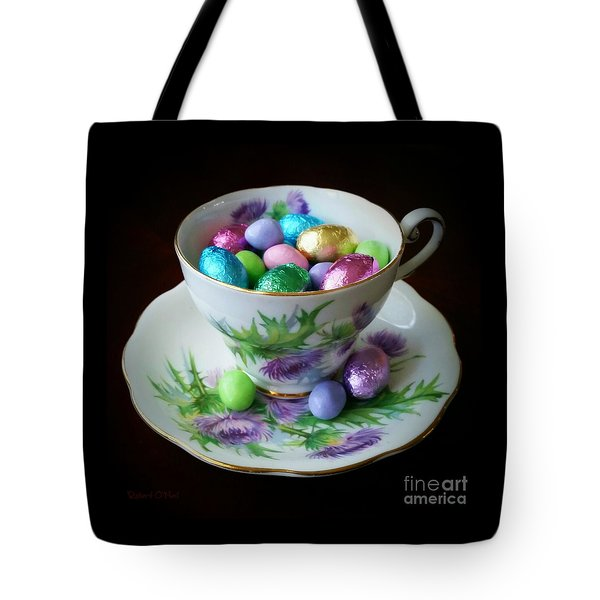 Easter Teacup Tote Bag