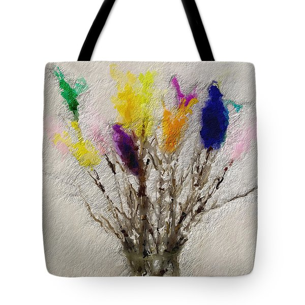 Easter Tree- Abstract Art By Linda Woods Tote Bag