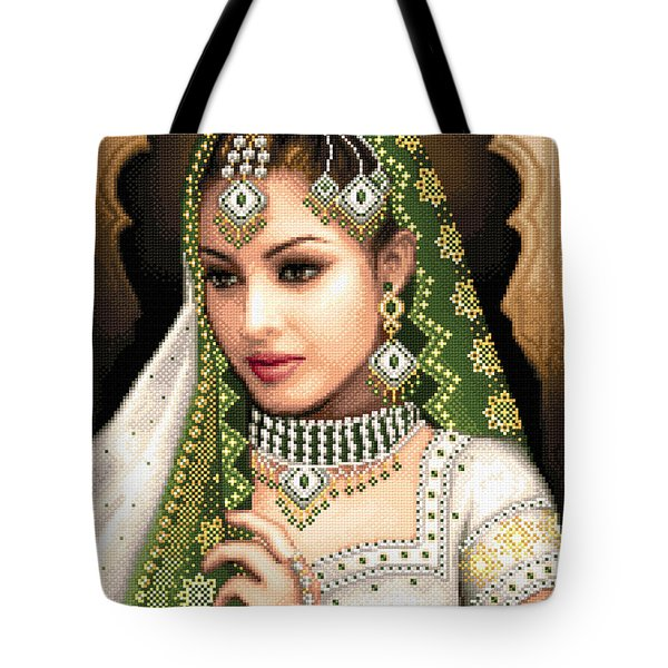 Eastern Beauty In Green Tote Bag by Stoyanka Ivanova