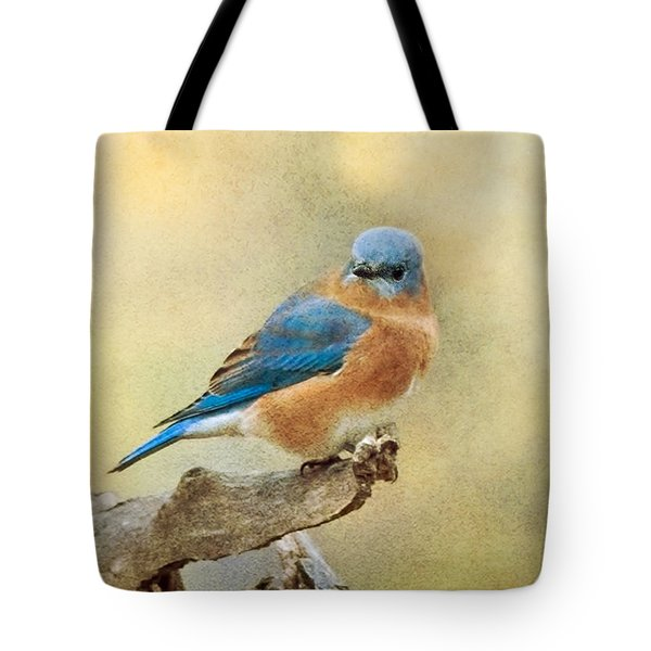 Eastern Bluebird Texture Tote Bag by CR  Courson