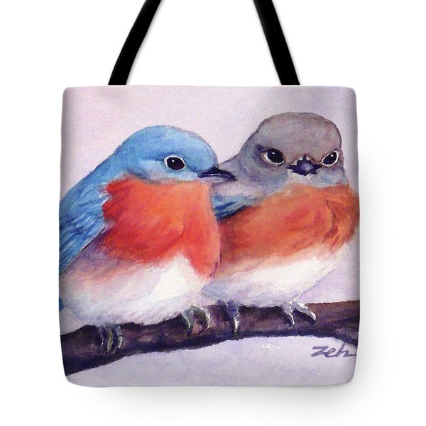 Eastern Bluebirds Tote Bag