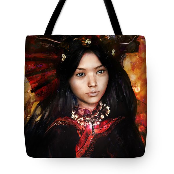 Eastern Light Our Lady Tote Bag by Suzanne Silvir