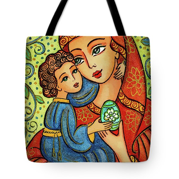 Tote Bag featuring the painting Easter Madonna by Eva Campbell