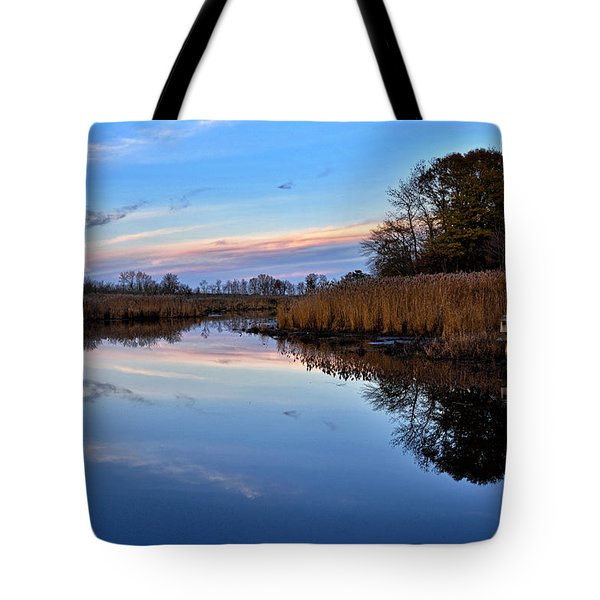 Tote Bag featuring the photograph Eastern Shore Sunset - Blackwater National Wildlife Refuge by Brendan Reals