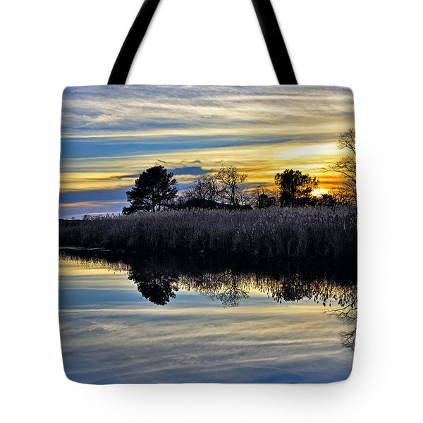 Tote Bag featuring the photograph Eastern Shore Sunset - Blackwater National Wildlife Refuge - Maryland by Brendan Reals