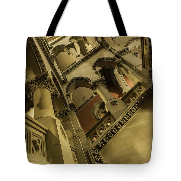 Tote Bag featuring the photograph Eastern Staircase by Brad Wenskoski