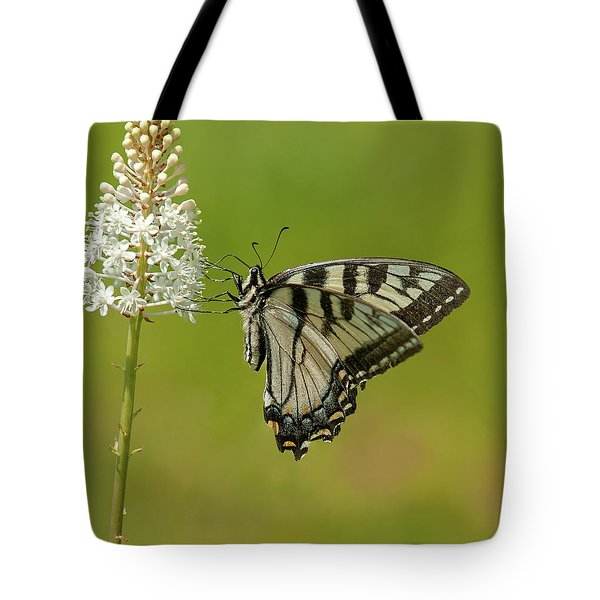 Eastern Swallowtail On Fly Poison Tote Bag