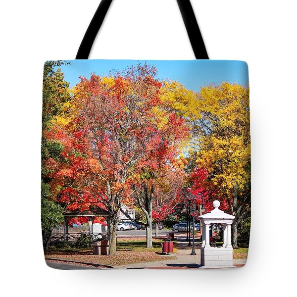Easthampton Center In The Fall Tote Bag