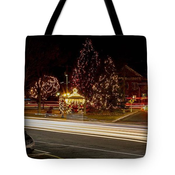 Easthampton Light Trails Tote Bag