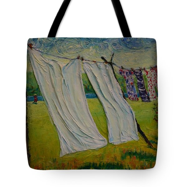 Tote Bag featuring the painting Easy Breezy by Dorothy Allston Rogers